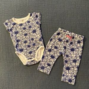 Touched By Nature Sunflower Onesie and Pants Set